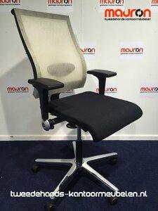 Ahrend 250 bureaustoel - Zwart met hoge vellium rugleuning