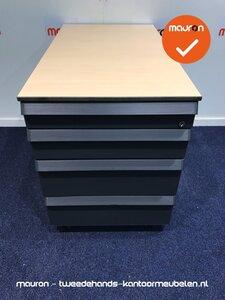 Ladeblok - Ahrend - 57x42x56cm - zilvergrijs - kunststof front