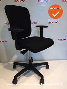 Ahrend 160 bureaustoel - Nieuw - Zwart met gestoffeerde rug
