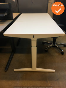 Ahrend bureau - 160x80cm - wit - hout - mehes - refurbished