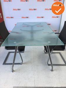 Ahrend 1200 vergadertafel- 200x120cm - Chroom onderstel - glazen blad