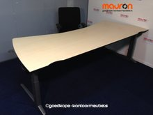Ahrend Essa bureau 240 x 100/80cm Ahorn