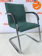 Vergaderstoel - Ahrend 4153 - turquoise groen - chroom onderstel