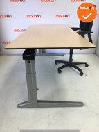 Ahrend Werkplek - Inclusief ladeblok en bureaustoel - Ahorn - In hoogte verstelbaar -  Zilvergrijs Essa